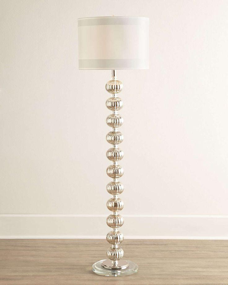 Isla Mercury-Glass Floor Lamp