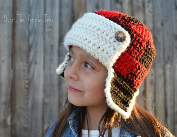 Plaid Earflap Hat, Trapper Hat Trees, Plaid and The ojays