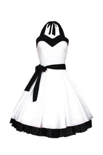 Laeticia Dreams Damen Pin Up Petticoat Rockabilly Kleid 50er Neu XS S M L XL, Größe:36;Farbe:Weiss Laeticia Dreams http://www.amazon.de/dp/B00DK98L5Y/ref=cm_sw_r_pi_dp_0Pmyvb1JHN4JS
