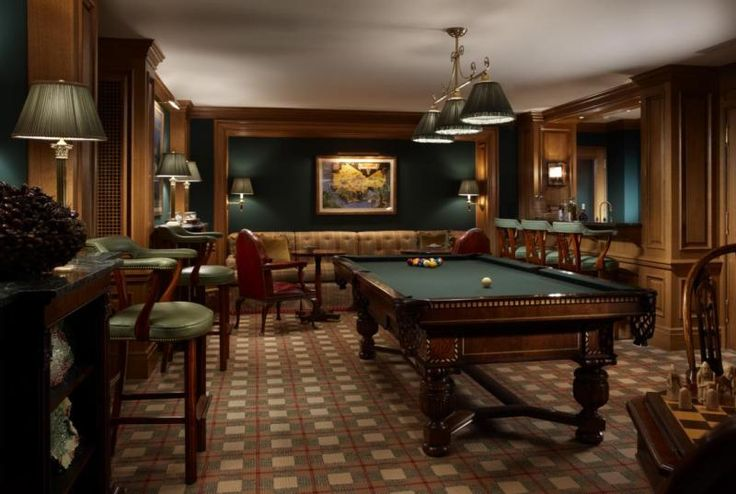 Greenwich, CT Residence Private Billiard Room Space - Scott Snyder Inc.