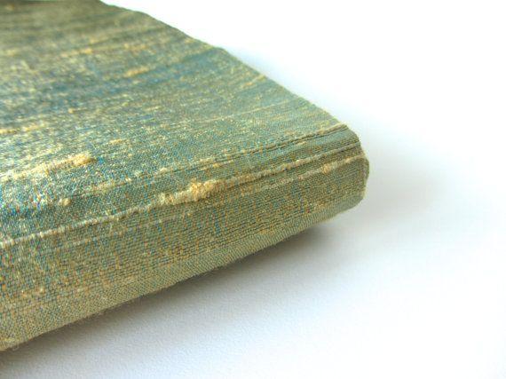Sea green raw silk India fabric nr 448 fat quarter door SilksByUmf