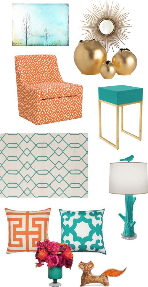 Tangerine Teal Color Combo Via The Blissful Bee Blog