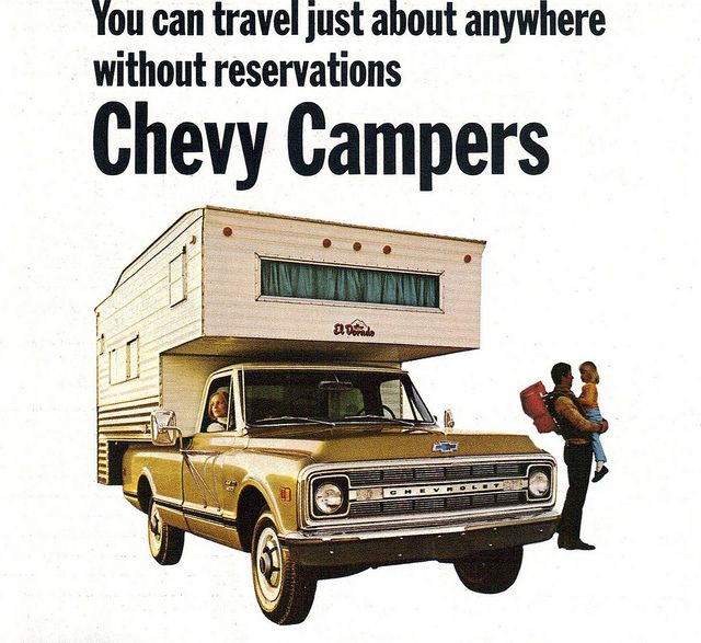 My family saw most of the U.S. and Canada in one of these. My brother and I had the run of the camper while dad drove. As I remember we spent most of that time fighting.  : )