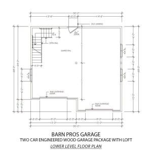 Barn Pros 2-Car 30 ft. x 28 ft. Engineered Permit-Ready Garage Package with Loft (Installation Not Included) THD-BP2CARG at The Home Depot - Mobile