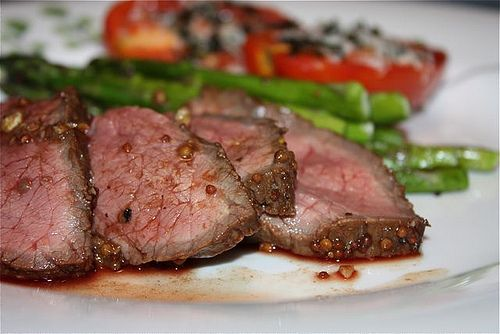 London Broil with Mustard, Balsamic Vinegar and Garlic Marinade recipe- Dinner.  Perfect for Whole30 meal planning.  #freezercooking #paleo #whole30
