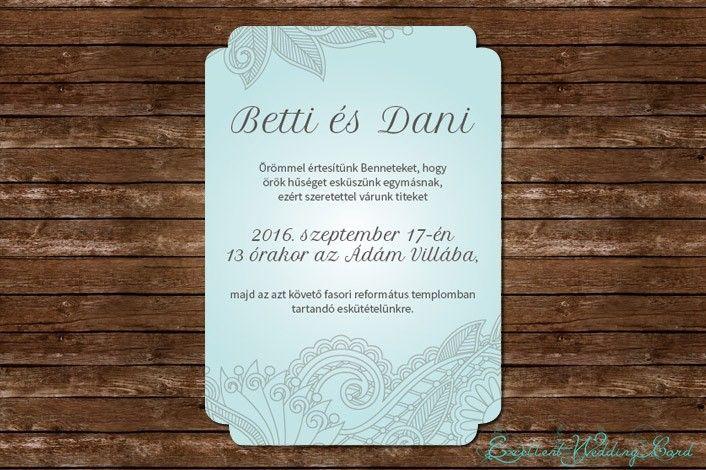 Elegant leaves esküvői meghívó