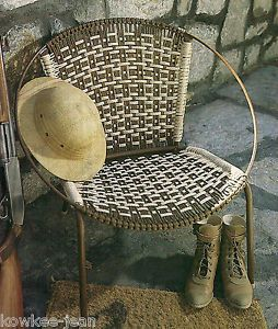 Macrame Lawn Chair - picture only, no tutorial.