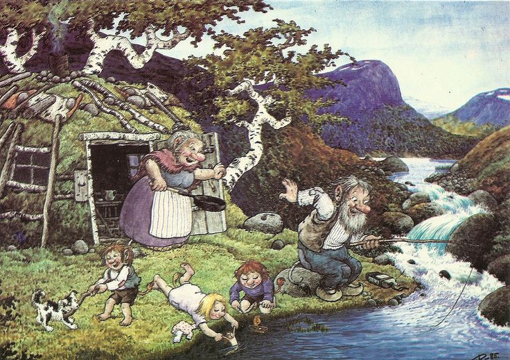 a postcard by Rolf Lidberg (from the series Trolls 1)
