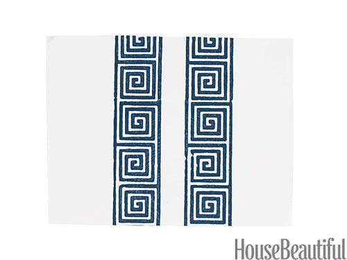 Greek Key Stripe Wallpaper