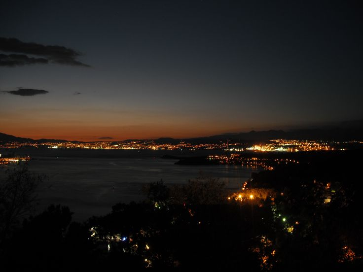 Night in Rijeka, Croatia