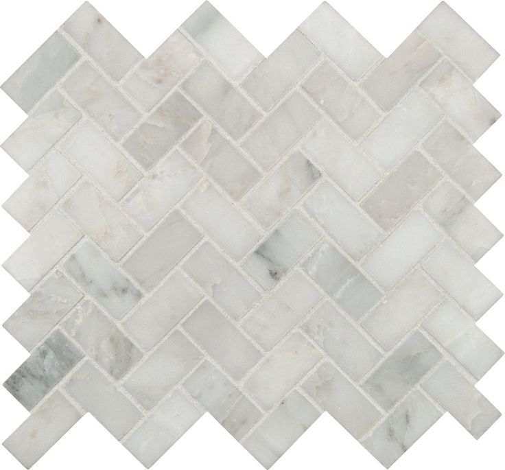 I really like this and think I'll see if tile people can do it over the stove with the white beveled subway tiles. arabescato-carrara-herringbone-pattern