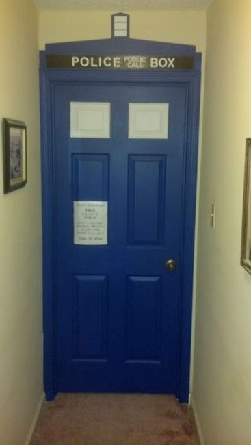 Doctor Who, TARDIS Door  I Want To Do This To My Bedroom Door Part 76