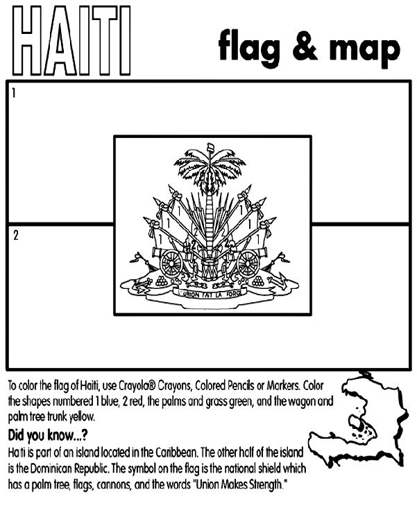 Haiti coloring page culture around the world pinterest for Haiti flag coloring page