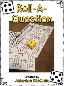 Freebie Roll-A-Question activity for Reading Comprehension!