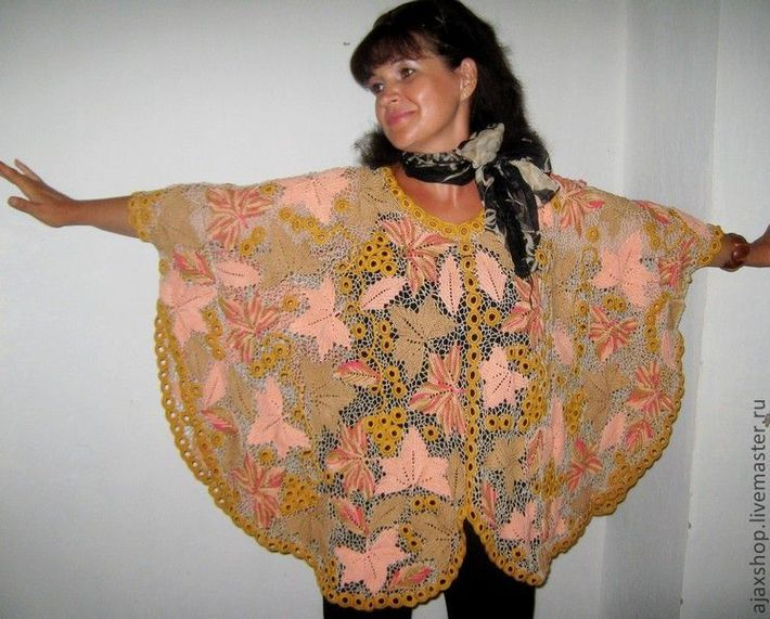 """Купить Пончо """"Лакомый кусочек"""" - пончо, накидка, одежда для полных женщин, ирландское кружево 4 нед. Антонина Паршутина: 9 тыс изображений найдено в Яндекс.Картинках"""