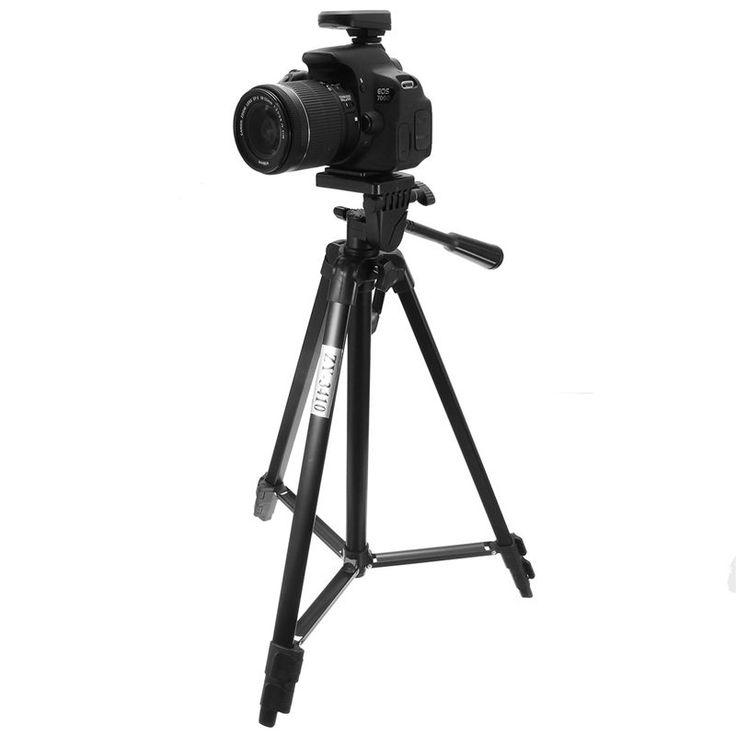 Aleación de aluminio de peso ligero portátil trípode fotográfica para DSLR Cámara Y-3410