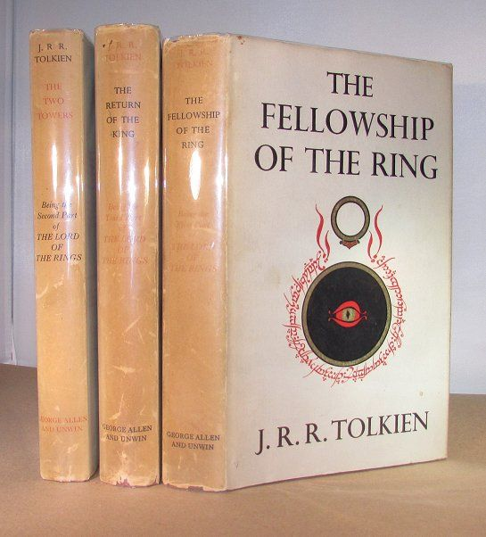 Tolkein - LLord of the RIngs trio  Fellowship of the RIng and the Two Towers early impressions but first of Two Towers 8500.00