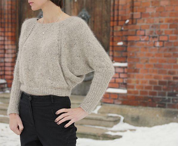 Kult konstruert genser som ser utrolig fin ut på. Denne kommer du til å like å strikke om du har lyst til å prøve noe annerledes.