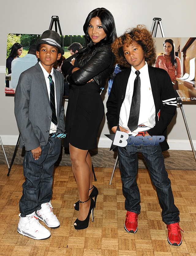 Toni Braxton is an Ultimate SuperMom!  Here with her handsome son!