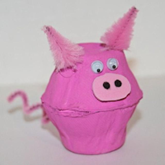25 best ideas about pig crafts on pinterest farm animal for Plastic egg carton crafts