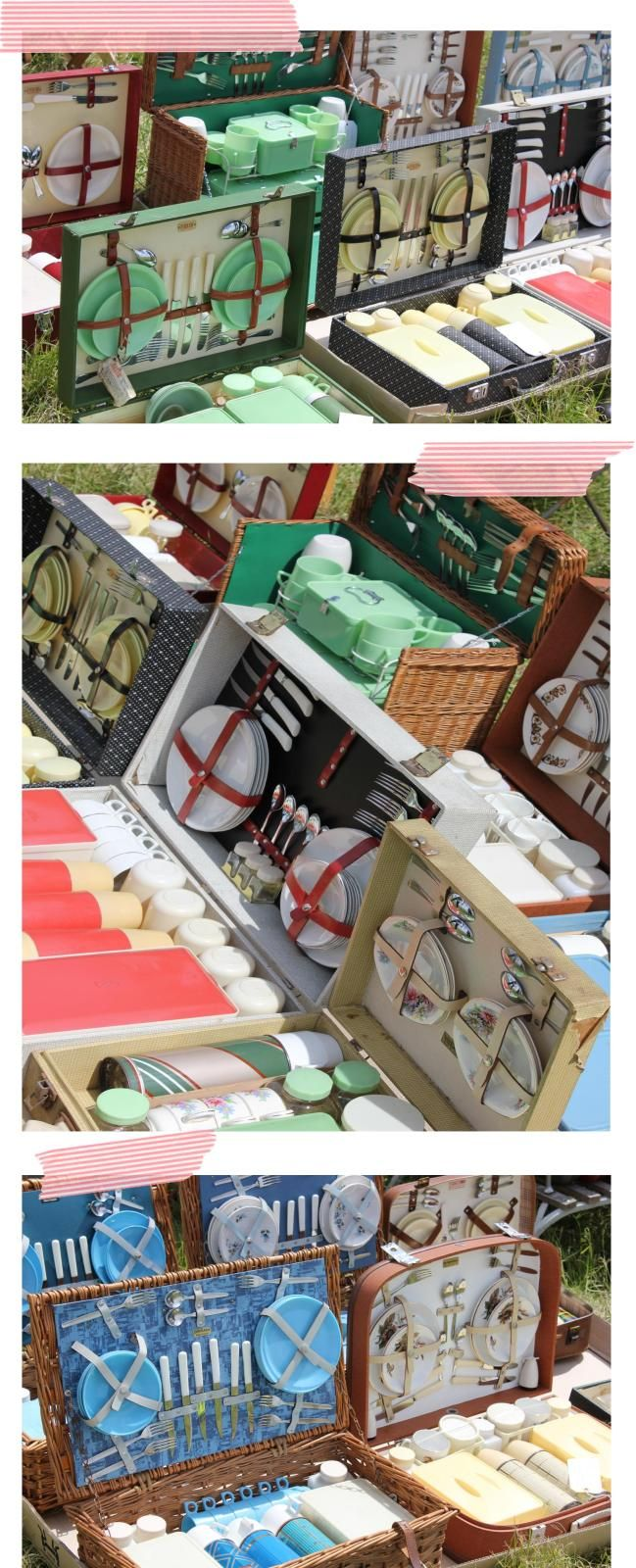 Warm weekends ~ the perfect opportunity for a retro picnic