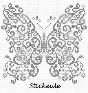 Free butterfly cross stitch