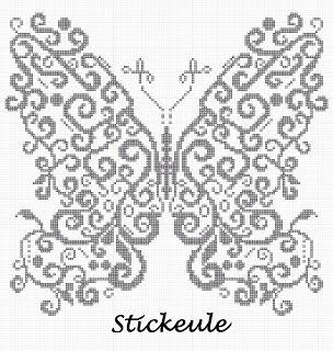 Free butterfly cross stitch