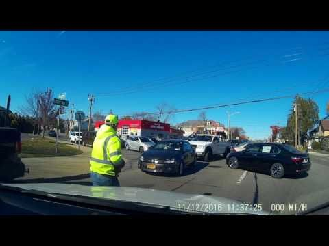 Was the culprit trying to pull off insurance fraud? Did he genuinely believe that he was not at fault? Either way, the driver has the whole incident caught on her dashcam.