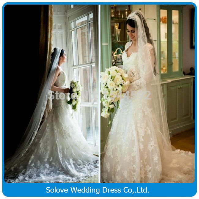 2015 мусульманские свадебные платья с платками милая кружева длиной до пола русалка свадебные платья 2015 свадебные платья noiva ( SLW-094 )