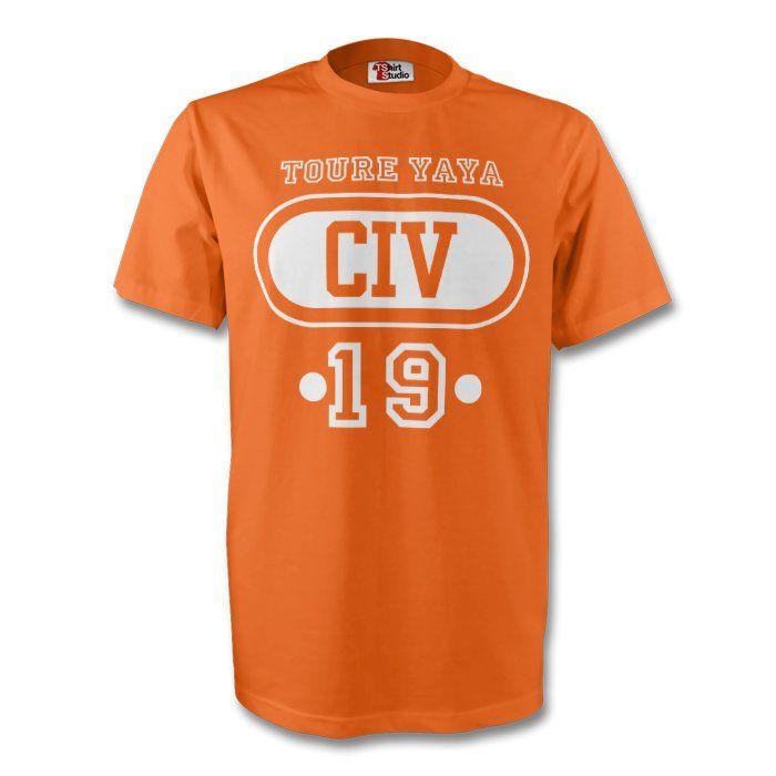 Yaya Toure Ivory Coast Civ T-shirt (orange) - Kids #Sport #Football #Rugby #IceHockey