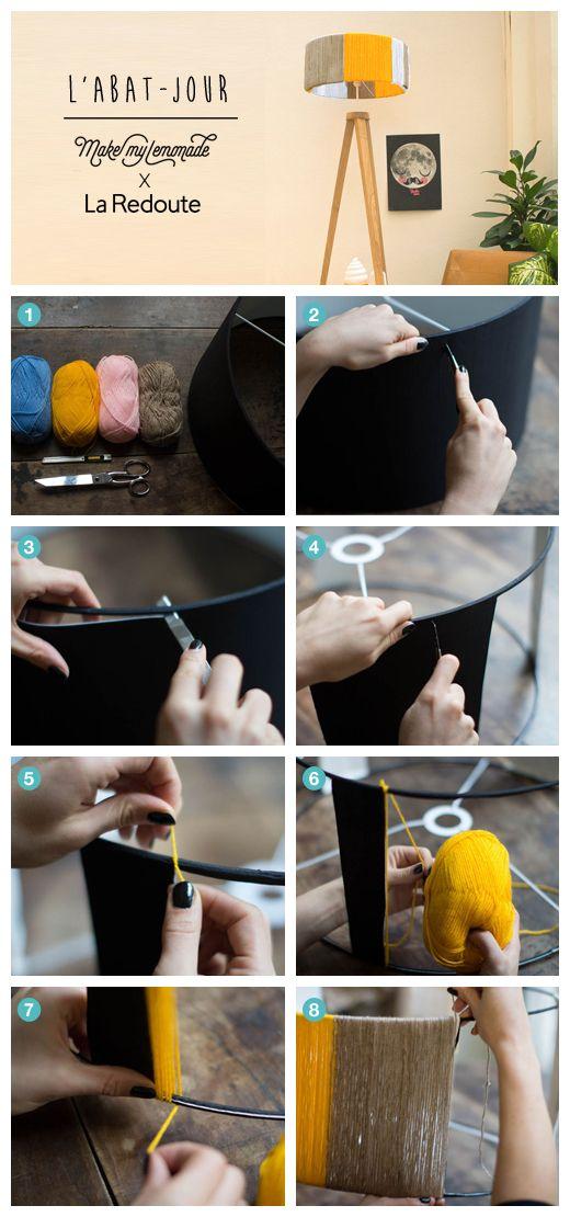 Un abat jour simple à réaliser pour colorer votre intérieur ! DIY by Make My Lemonade pour La Redoute