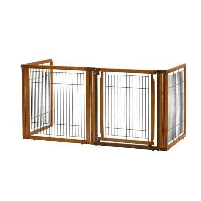 4 panel low rise wood gate -Richell