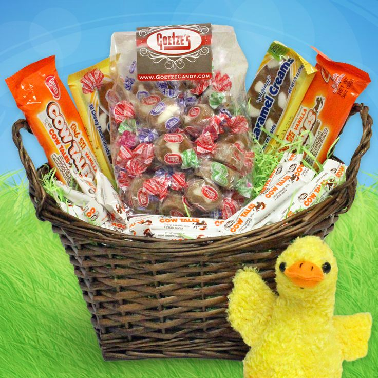 68 best easter baskets images on pinterest easter baskets cow caramel creams and cow tales easter basket filled with nut free candy cow negle Gallery