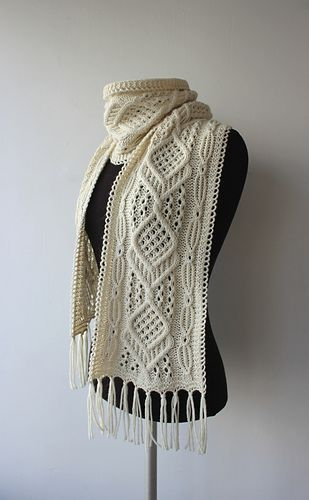 Ravelry: K-Kristiina's Cables and Lace Scarf