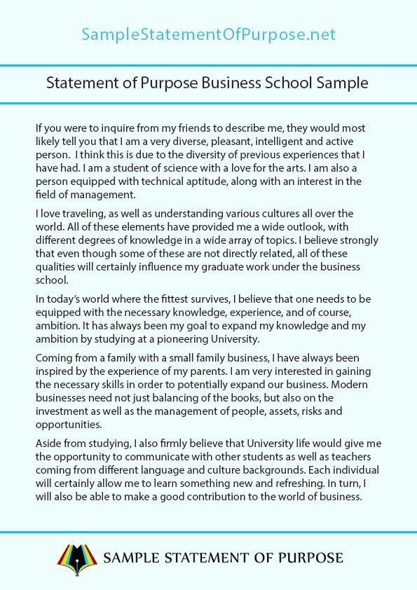 Letter Of Purpose Example Lovely Pin By Sample Statement On Personal School Essay Scholarship Examples Busines And Law