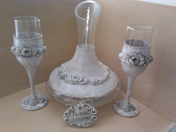 Hand Painted Wine Glasses-glass,decanter.Wedding glasses, wedding glasses set,Champagne Flutes,Personalized Wine Glasses, Custom order glass