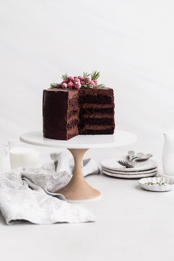 Rich Dark Chocolate Cake Recipe