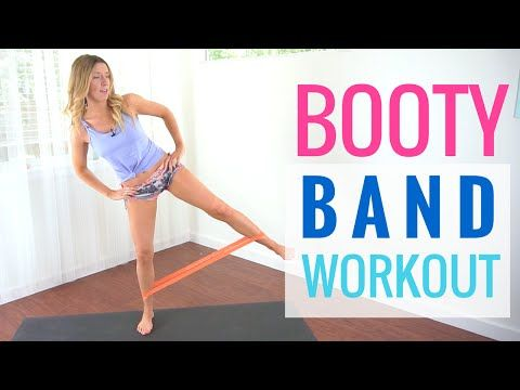Resistance Band Abs & Booty Workout | Booty & Abs Burner! - YouTube