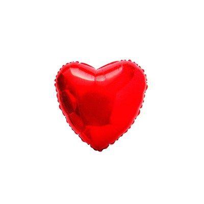 Balão Metalizado Coração Vermelho - Flexmetal