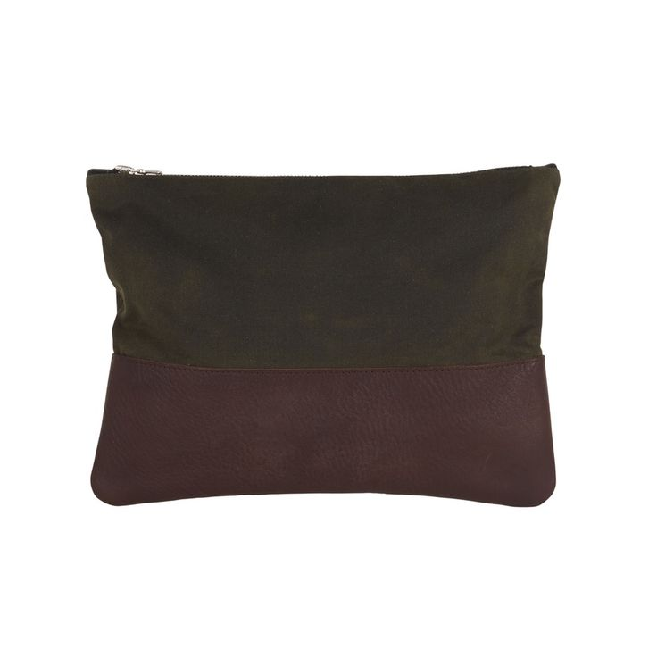 Sarah Baily | Murray Man Pouch - Brown leather / waxed cotton