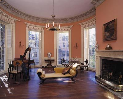 Historic Plantation Interiors Second Floor Drawing Room Nathaniel Russell House Photo Bill