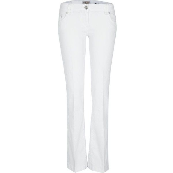 River Island White bootcut jeans (100 ILS) ❤ liked on Polyvore featuring jeans, pants, white jeans, boot-cut jeans, bootcut jeans, boot cut jeans and river island