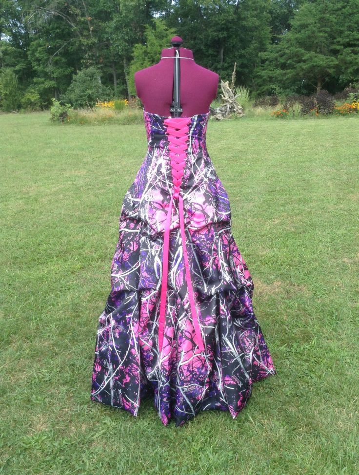 Muddy Girl CAMO Dress / Gown with Pick Up Skirt / Design Options available by CamoGownsAndMore on Etsy