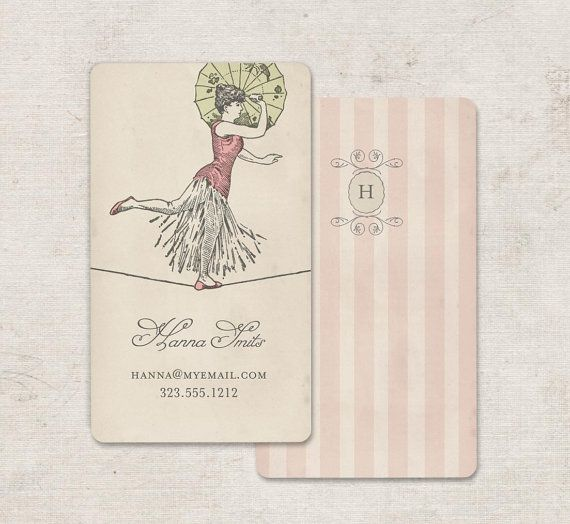 Vintage Business Cards or Calling Cards Vintage Circus by GoGoSnap, $76.00