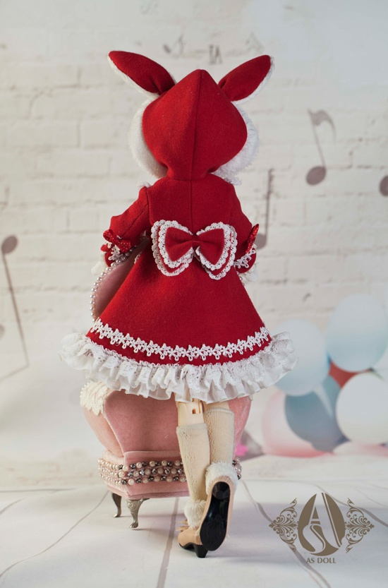 bjd clothes (1/4 big red rabbit dress) from Angell-studio