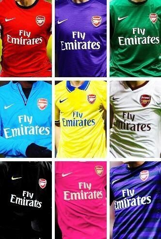 The colours of Arsenal