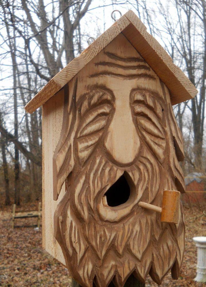 541 beste afbeeldingen over vogelhuisjes op Pinterest ...Old Man Face Bird Houses