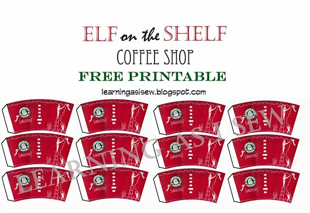 Elf on the Shelf: Coffee Cups and Newspaper with Free Printables