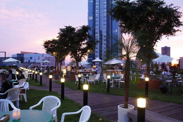 Refresh and rehydrate at the Pergola Poolside Bar at the Hyatt Regency Osaka.
