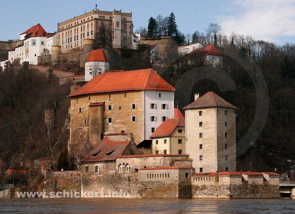 Burgen und Schlösser in Deutschland  Veste Oberhaus Passau